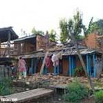 Zerstörte Häuser in Nepal durch das Erdbeben
