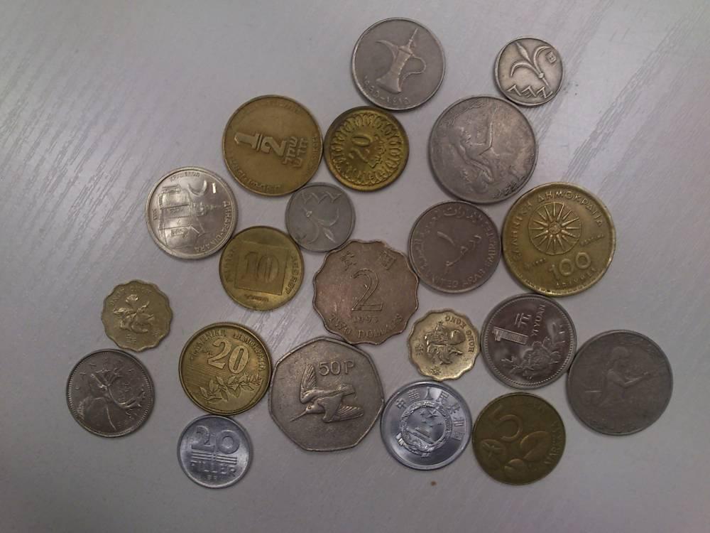 Auswahl diverser Münzen aus Hong-Kong, Canada, Griechenland